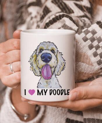 I Love My Doodle mug, Golden Doodle mug 5