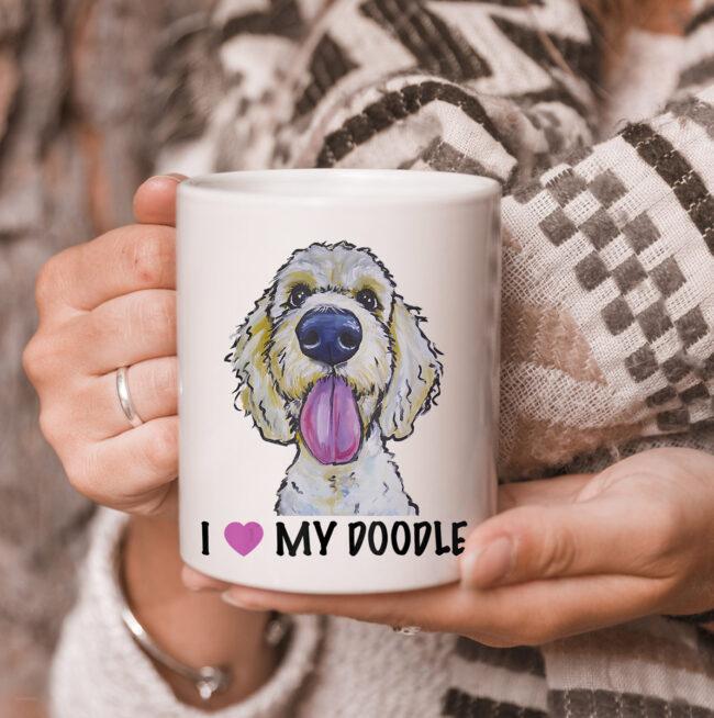 I Love My Doodle mug, Golden Doodle mug 3