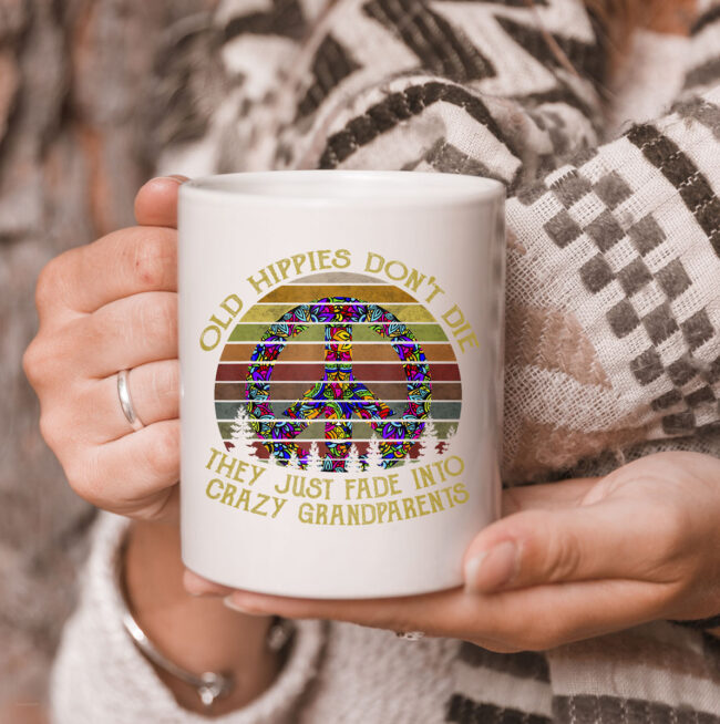 old hippies don't die t CoffeeMug hippie peace gift CoffeeMug 3