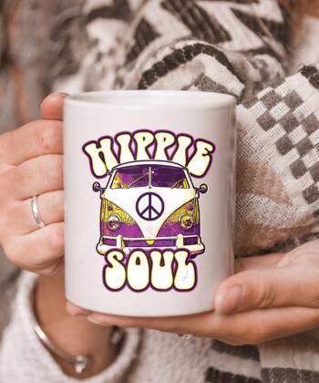 Hippie Soul Car Hippies Peace Vintage Retro Hippy Gift mug 5