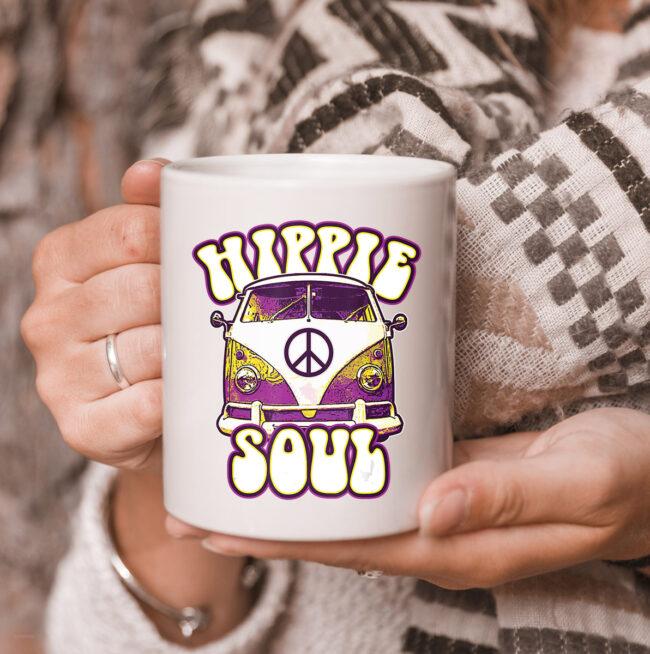 Hippie Soul Car Hippies Peace Vintage Retro Hippy Gift mug 3