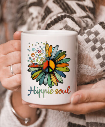 Daisy Peace Sign Hippie Soul TCoffeeMug Flower Lovers Gifts Mug 5