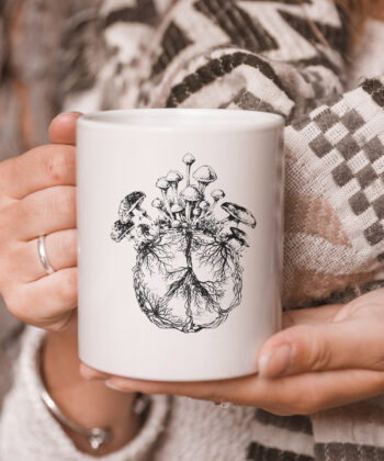 Funny Mycologist Mushroom Lover Gift Mycology Hippie Peace Premium mug 5