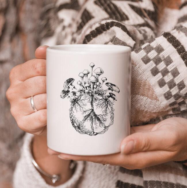 Funny Mycologist Mushroom Lover Gift Mycology Hippie Peace Premium mug 3