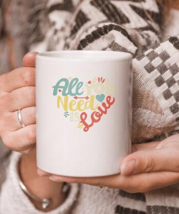 All You Need is Love Valentines Day mug Women Girls Heart mug 5
