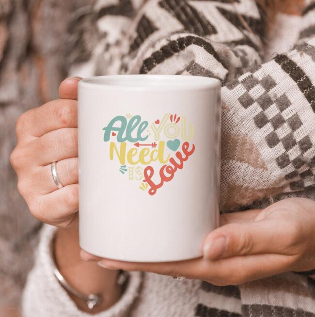 All You Need is Love Valentines Day mug Women Girls Heart mug 3