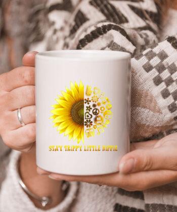 Stay Trippy Little Hippie CoffeeMug | 70s Hippie White mug Mug 5