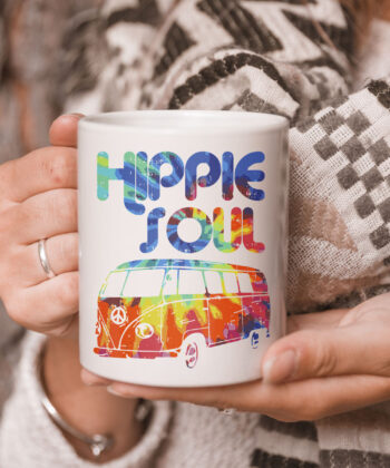 Hippie Soul Van Bus Vintage Retro Tie Dye Psychedelic Hippy Mug 5