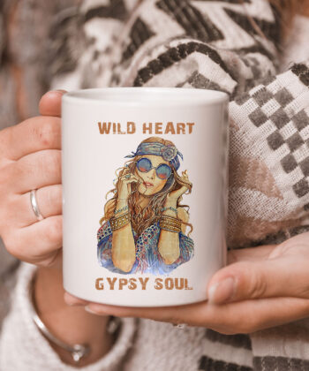 Wild Heart Hippie Girl Gypsy Soul For Hippie Style Mug 5