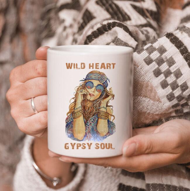 Wild Heart Hippie Girl Gypsy Soul For Hippie Style Mug 3