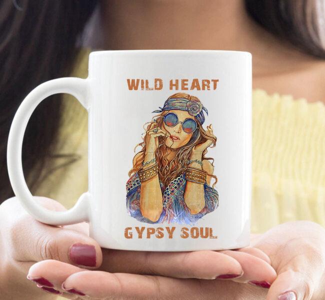 Wild Heart Hippie Girl Gypsy Soul For Hippie Style Mug 1