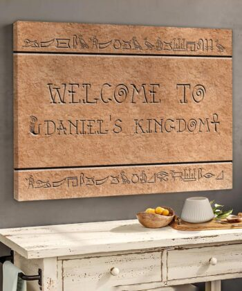 Egyptian style home sign canvas art 9