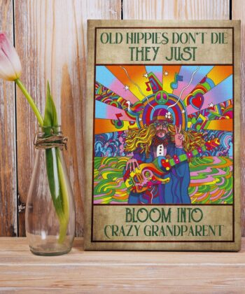 OLd hippie dont die, they just bloom into grandparent, gypsy life canvas art 11
