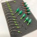【ハンドメイド】緑色の「イロプラ」で自作ジグヘッドを応用