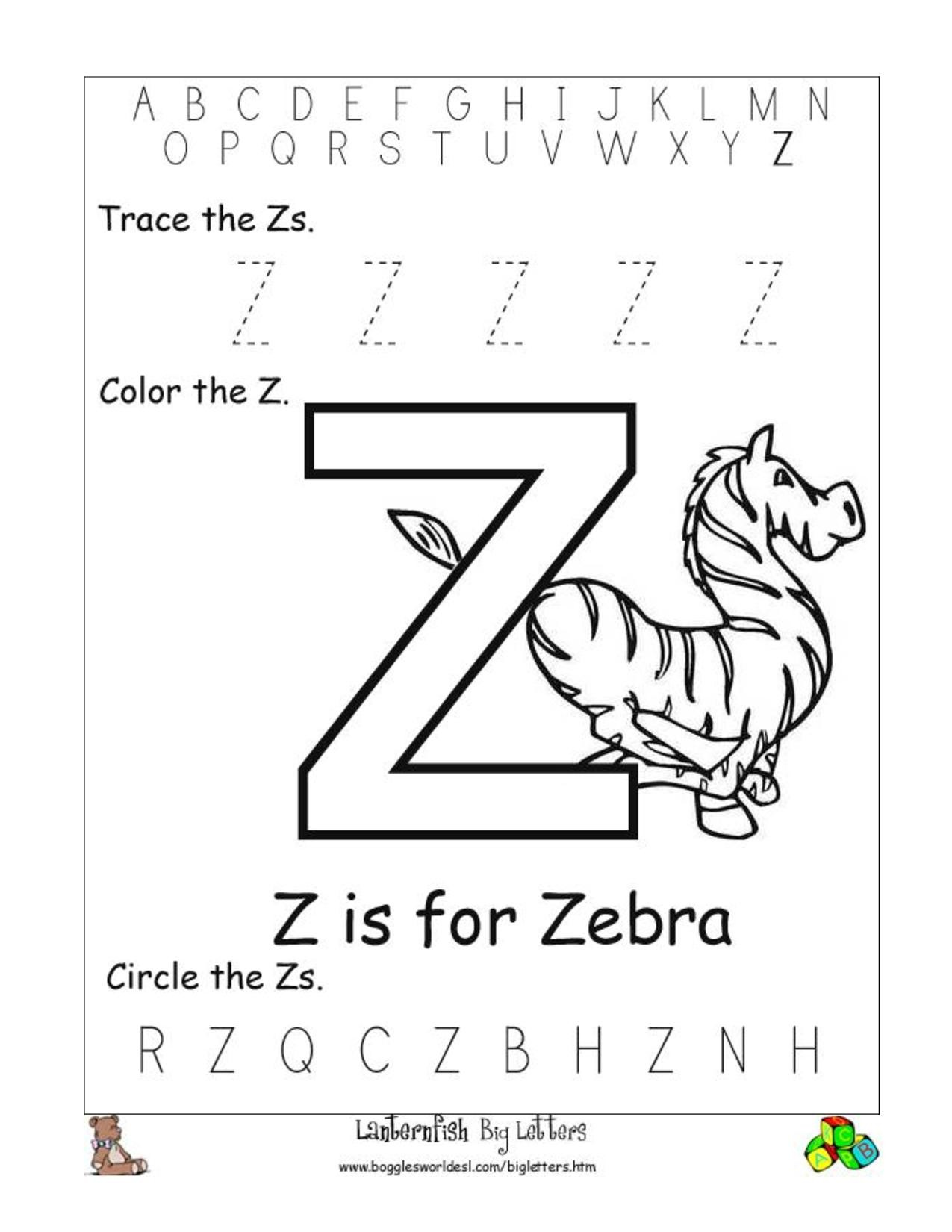 Letter Worksheets For Pre K Letter Worksheets