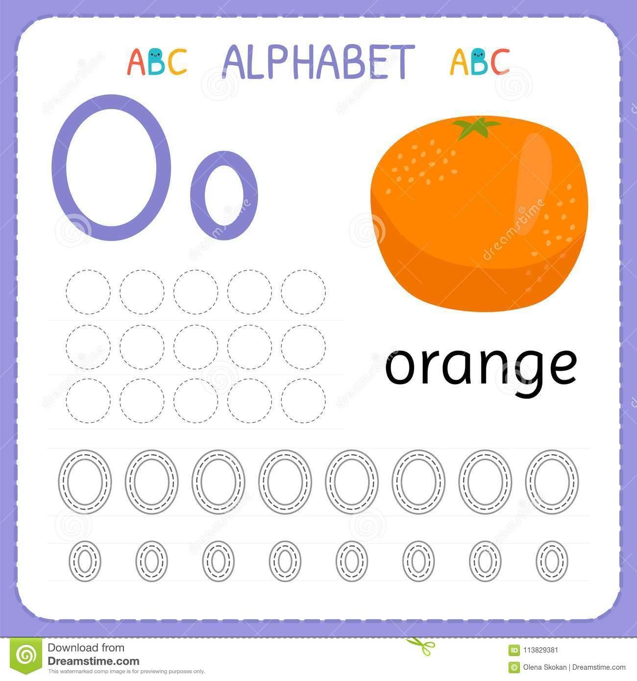 The Letter O Worksheets For Kindergarten Letter Worksheets