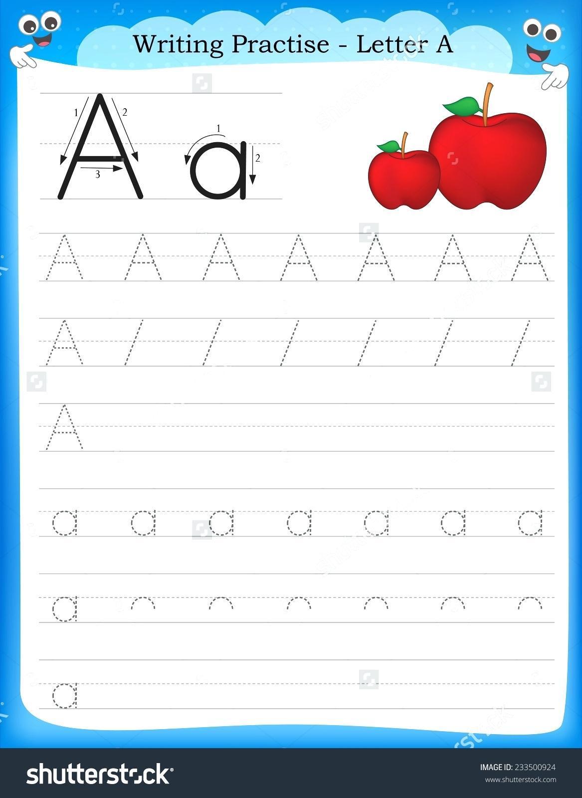 Letter Writing Worksheets For Kids 8 Letter Worksheets