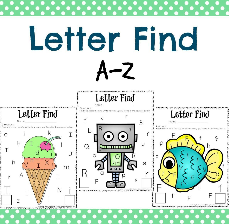 Letter Find Worksheets For Preschoolers 1 Letter Worksheets
