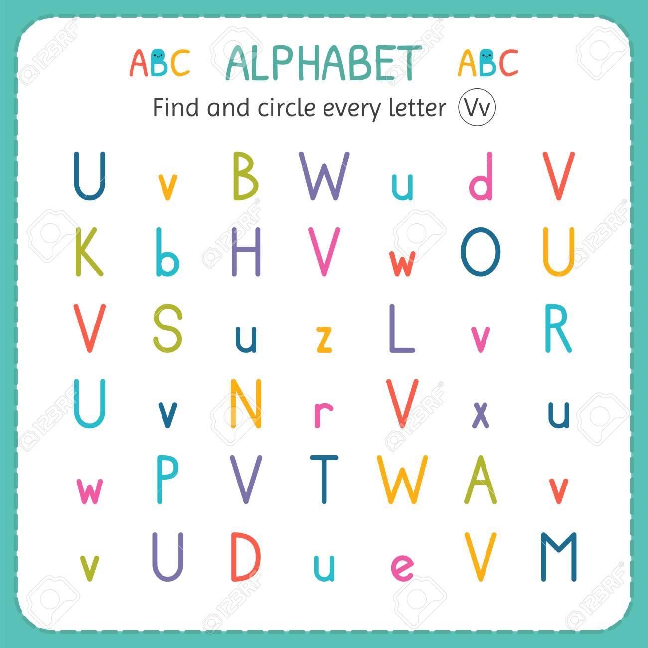 Letter Find Worksheets For Preschoolers 3 Letter Worksheets