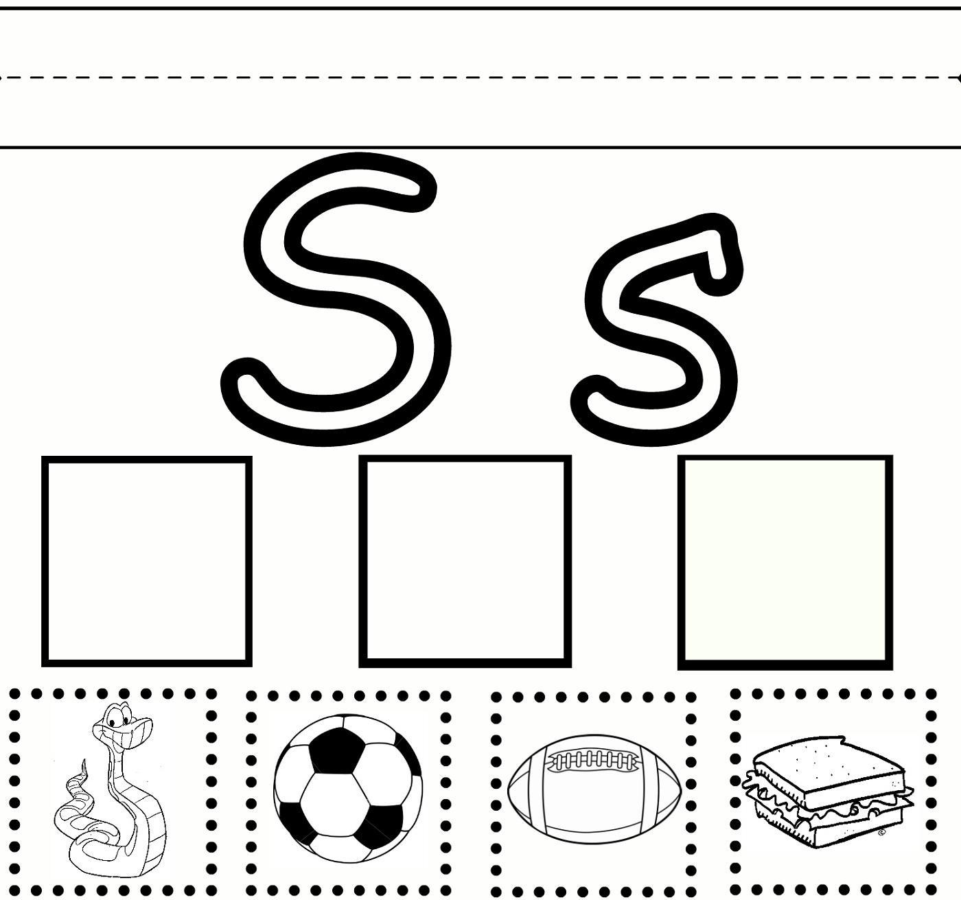 Letter S Worksheets For Pre K Letter Worksheets