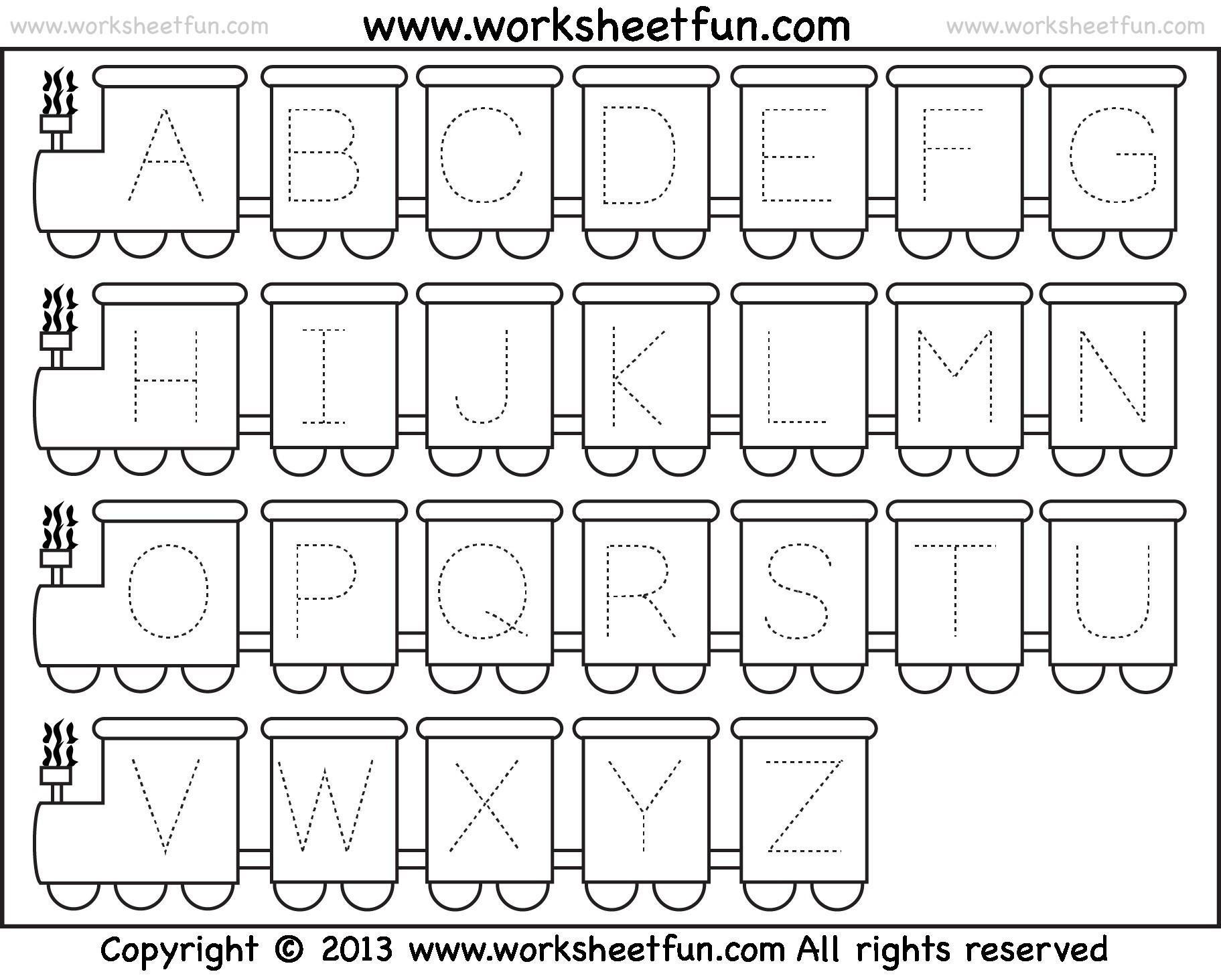 A To Z Worksheets For Preschoolers 7 Letter Worksheets
