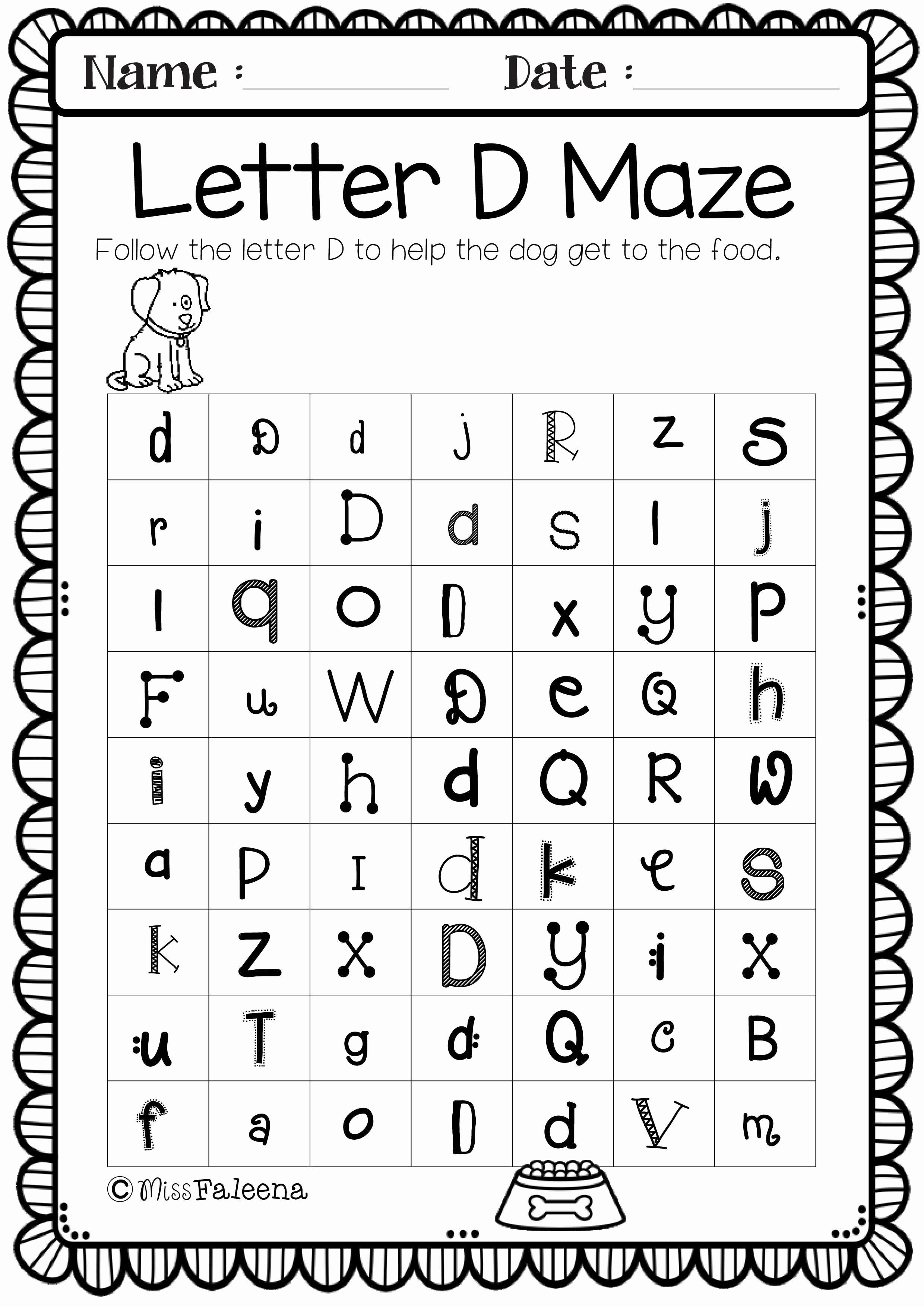 Letter Recognition Worksheets Grade 1 Letter Worksheets