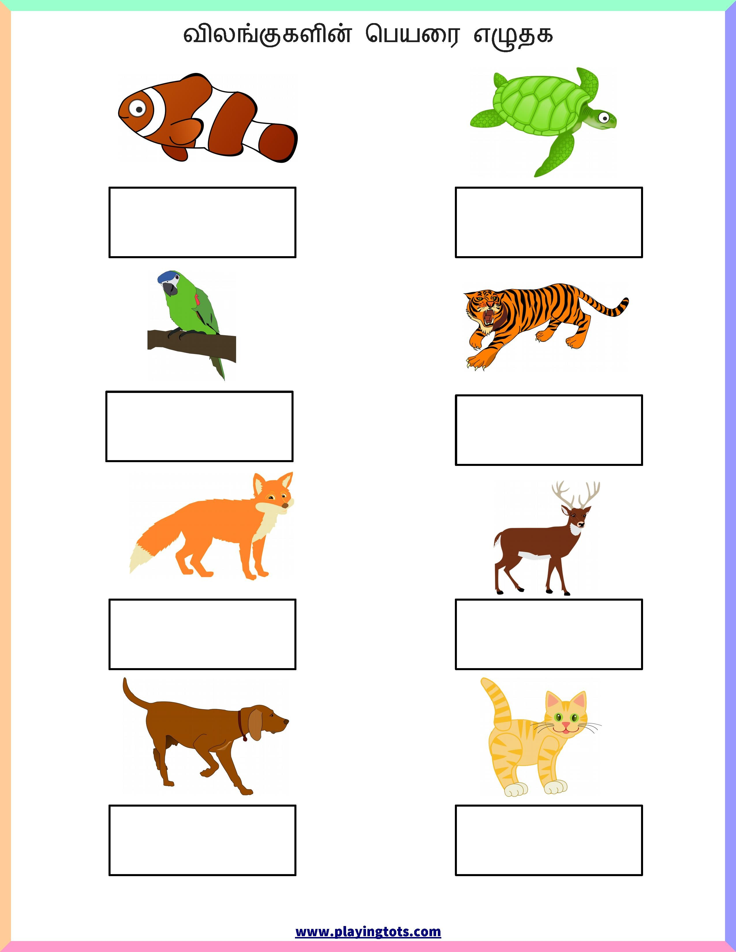 Printable Worksheets Animals Letter Worksheets