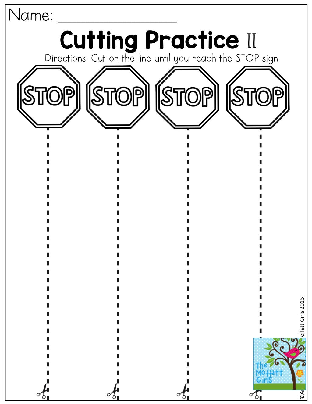 Free Printable Cutting Worksheets For Preschool Letter