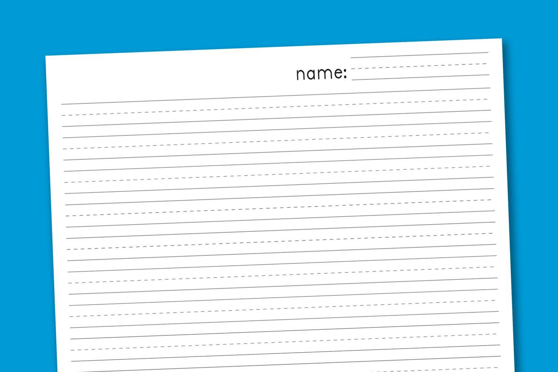 Free Printable Blank Handwriting Paper Letter Worksheets