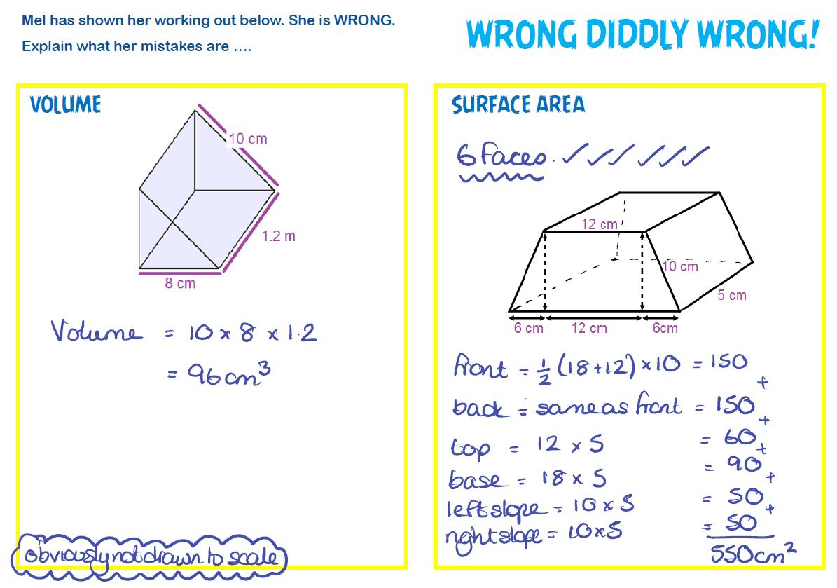 Printable Math Worksheets Surface Area Answers 9 Letter