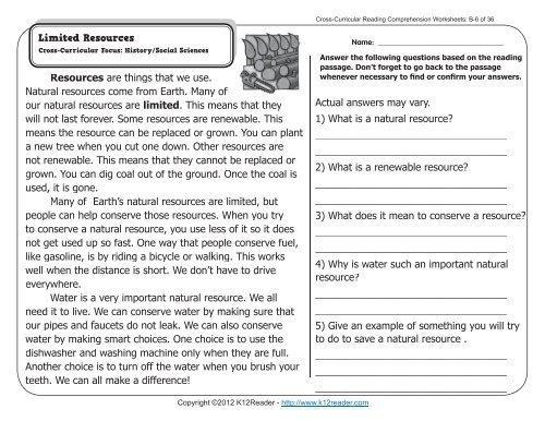 Free Printable 2nd Grade Reading Comprehension Worksheets Pdf – Letter  Worksheets