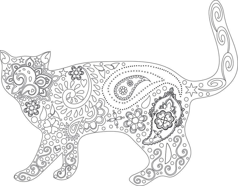 Printable Kitten Coloring Pages For Adults Letter Worksheets
