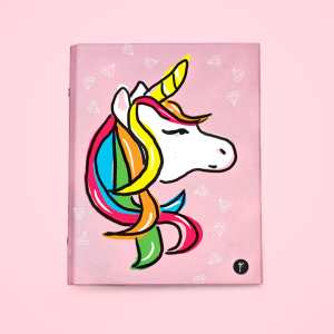 any year planner binder unicorn front