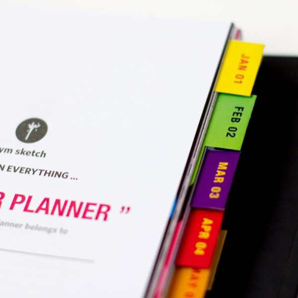 any year planner binder close up