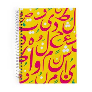 notebook a5 heroof yellow and pink