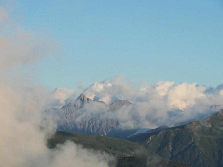 薬師岳から見た槍ヶ岳