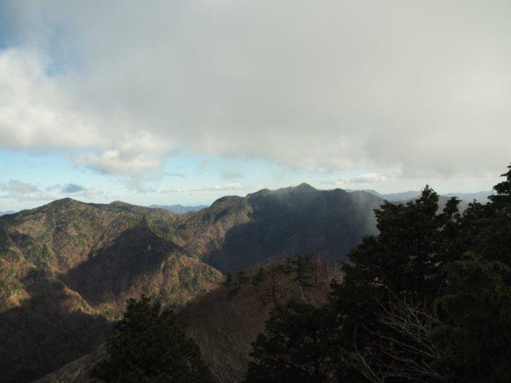 八経ヶ岳方面