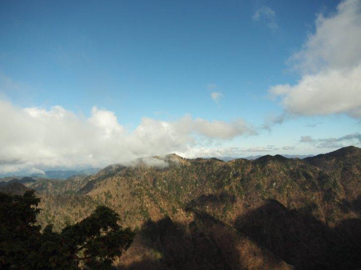 山上ヶ岳方面