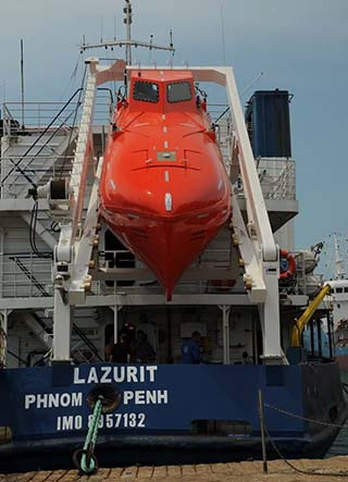Freefall Lifeboat Davit YMV Crane And Winch Systems