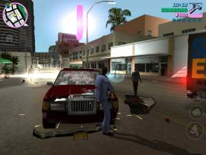GTA Vice City Tommy Wrecking Car