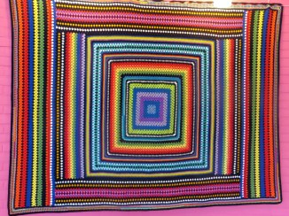 4e granny square deken voor de actie haak maar aan, de grootste deken ter wereld