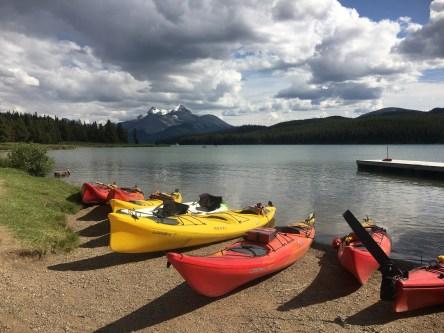 Kayak rentals at Maligne Lake