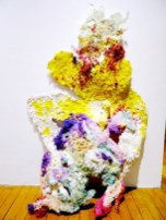 WHAT A DELIGHTFUL FEELING!? (2013) MEDIA: Paper Pulp, Acrylic Gouache & Adhesive. SIZE: Variable.