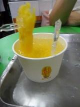 Ananas et glaçons