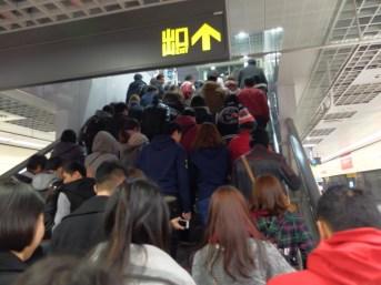 Le métro à l'aller