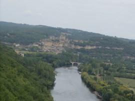 Vue sur le château de Beynac