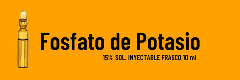 Fosfato de potasio. (Se identifica con el color naranja)