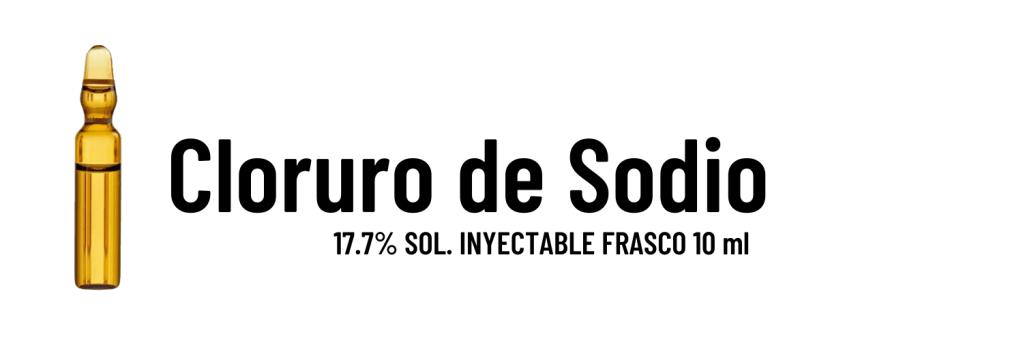 Cloruro de sodio (si identifica con el color blanco)