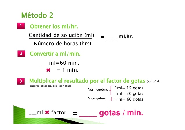 Cálculo de infusión2