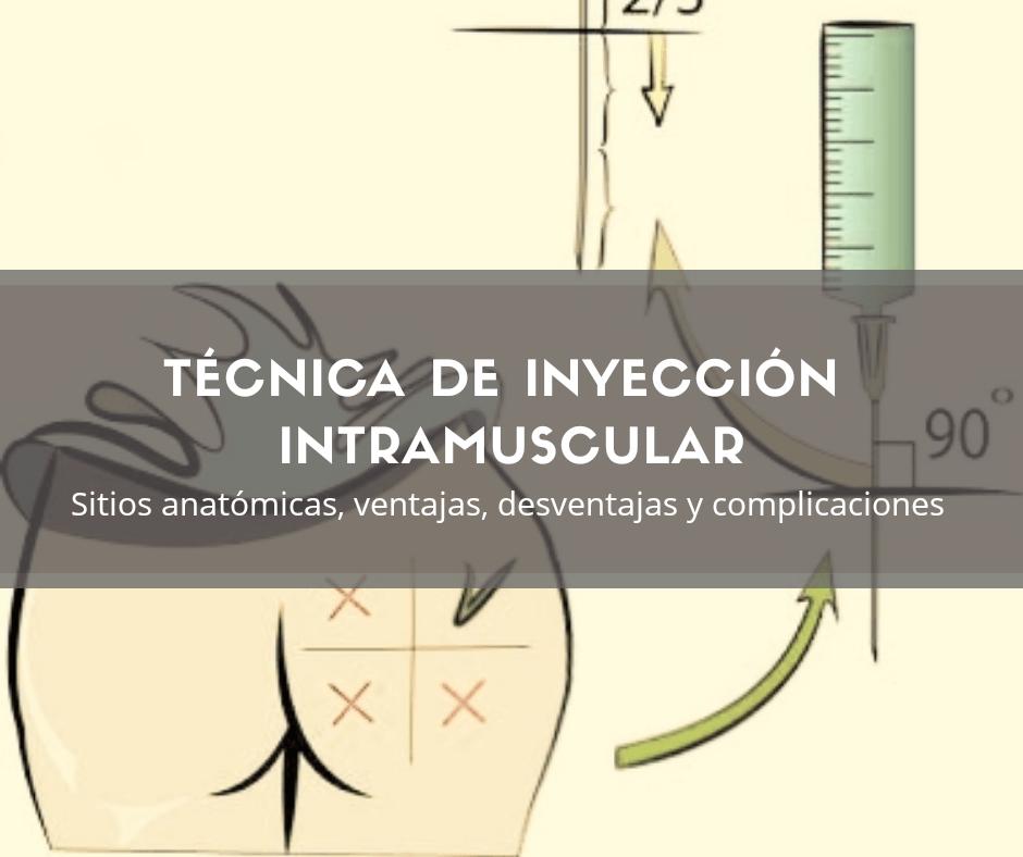 Inyección intramuscular es la Acción de inyectar una sustancia en un músculo con distintos objetivos por lo general terapéuticos.